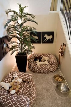 DIY dog bed: Or you could make your dog their own bedroom! Source