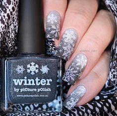 """Nina aka @nina_d83 wearing 'Winter + LakoDom' ❄️❤️❄️ thank you :) Shoplink in bioor www.picturepolish.com.au Please see Orders + Shipping or…"""