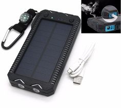Find More Solar Cells, Solar Panel Information about Dual USB Ports Solar Charger Power Bank W/ Cigarette Lighter Port Flashlight LED Portable Powerbank For Xiaomi Huawei iPhone,High Quality bank solar,China porte led Suppliers, Cheap porte portable from HellenHe Store on Aliexpress.com