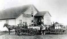 A farmer delivers milk to the Tillamook Creamery in Bay City, Ore., in this undated historical photo. (AP Photo/Tillamook County Creamery Association via The Register-Guard, File) | That Oregon Life
