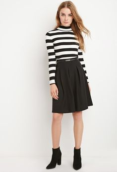 Belted Box Pleat Skirt | Forever 21 Canada