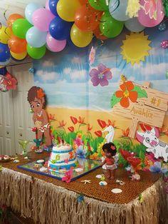 Moana birthday party decoration