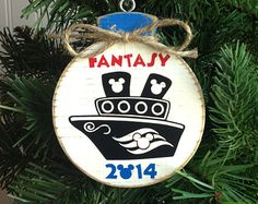 Disney Cruise Mini Ornament Personalized Disney Christmas Wood Ornament Disney V… - Fisch Krafts Ideen Disney Cruise Line, Disney Wonder Cruise, Disney Fun, Disney Travel, Disney Ears, Disney Magic, Disney Christmas Ornaments, Christmas Wood, Disney Cruse