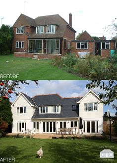 New England renovation in Maidenhead, Berkshire by Back to Front Exterior Design. Completely transformed with extension and new exterior design