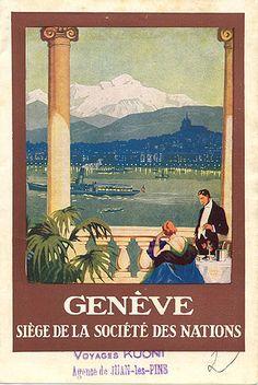 Genève, Siège de la Société des Nations, circa 1930 Travelbrochuregraphics.com David Levine