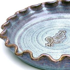 Pottery Pie Plate Quiche Baking Dish Larger by MostlyStoneware, $36.00
