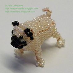 Beading for beginners: Pug in 3-D beading also had other free beaded patterns