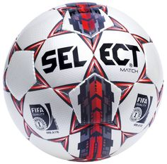 Piłka nożna Select Top Match 5 FIFA biało/czerwona. Piłka nożna marki Select, przeznaczona na mecze oraz treningi klubowe, polecana na nawierzchnie trawiaste. #pilkanozna #sportyduzynowe