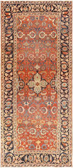 Antique Persian Bidjar Gallery Runner Rug 48593