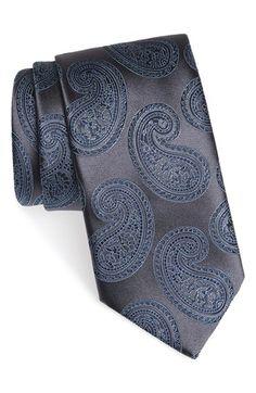 Ermenegildo Zegna Paisley Print Silk Tie Paisley Tie, Paisley Pattern, Paisley Print, Silver Shirt, Luxury Ties, Neck Accessories, Designer Ties, Elegant Man, Classy Men