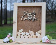 Heart Drop Wedding Guest Book Alternative
