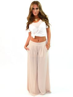 Haute Hippie Wide Leg Pants