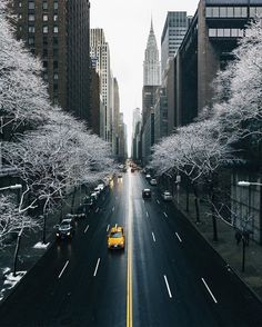 www.joliesse.ru вдохновение Нью-Йорк снег зима город вид улица