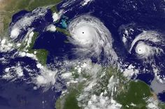 NOAA satellites have been capturing imagery of the storms since they were developing in the Atlantic Ocean and Gulf of Mexico. International Space Station cameras were also used to record Hurricane Irma. Climate Change Effects, International Space Station, Gulf Of Mexico, Atlantic Ocean, Latest Video, Lion Sculpture, Tropical, Videos, September 8