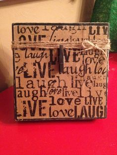 Rustic Wood Photo Frame with Decoupage Live by DefinitelyDenise
