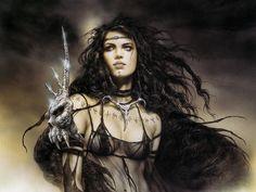 50 best images about Luis Royo-Prohibited Fantasy Warrior, Fantasy Girl, Chica Fantasy, Fantasy Women, Dark Fantasy, Warrior Paint, Viking Metal, Warrior Drawing, Heavy Metal Art