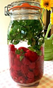 Raspberry and Mint Gin - Yummy! - This is my most requested home made make and its super simple!