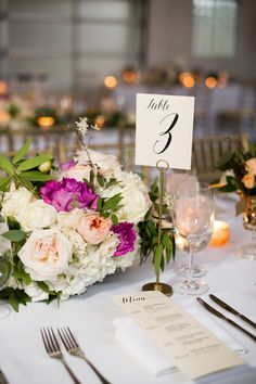 Pretty spring florals for the elegant wedding. http://thedailywedding.com/2016/04/24/sequin-chicago-wedding-kailee-brandon/ http://thedailywedding.com/2016/04/24/sequin-chicago-wedding-kailee-brandon/