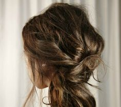 Party Hair Inspiration: 10 Gorgeous Messy Updos From�Pinterest | StyleCaster
