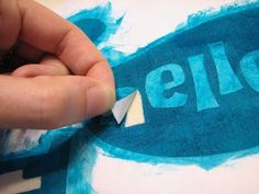 Freezer paper stenciling - how to