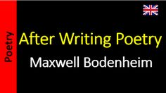 Poetry in English - Sanderlei Silveira: Maxwell-Bodenheim-After-Writing-Poetry