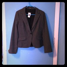 BNWT Express Blazer Tweed express blazer. 3rd pic captures the color most accurately. Button detailing on the sleeves. Express Jackets & Coats Blazers