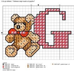 Alfabeto degli orsetti col papillon: G