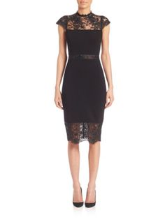 Alice and Olivia - Kim Mockneck Sheath Dress