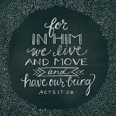 For in Him we live and move and have our being, as also some of your own poets have said, 'For we are also His offspring.' (Acts 17:28 NKJV)