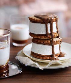 Dulce de Leche Marshmallow Biscuits #recipe