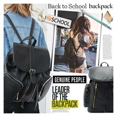 """Back to School: New Backpack"" by genuine-people ❤ liked on Polyvore featuring Pentel"