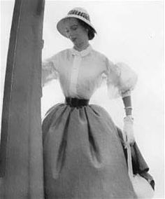 christian dior dresses 1950s | Mode in de jaren '40