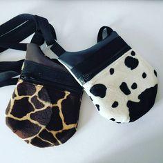 """Valencroix sur Instagram: Ménagerie au comptoir des artisans à le Quesnoy ! Vache, girafe ou léopard... À vous de choisir. Pratique ce petit sac à """"grande…"""