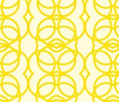 most awesome chair: yellow_circles fabric by holli_zollinger on Spoonflower - custom fabric