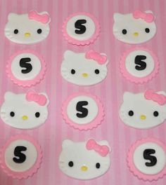 Kitty and Age Fondant Toppers for Cupcakes Cake by iamladycupcake, $17.95