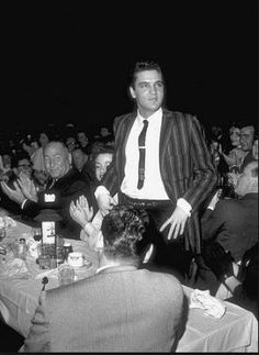 Elvis Presley At Frank Senne's Moulin Rouge in Los Angeles with Kitty Dolan and Hal Wallis (to Kitty's left in the last photo) on March 11 1958