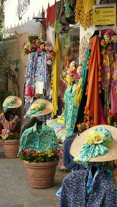 Shop in Positano, Italy . so very Positano. Sorrento, The Places Youll Go, Places To Go, Wonderful Places, Beautiful Places, Positano Italy, Naples Italy, Venice Italy, Boutiques