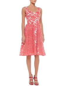 Sleeveless Embroidered Lace Party Dress by Badgley Mischka Collection at Neiman Marcus.