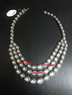 Victorian Reproduction 24.60 Ct Rose & Antique Cut Diamond NECKLACE - FREE SHIPPING