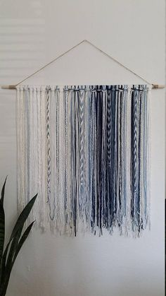 YarnTapestry - Blues, Creams, and Whites This tapestry makes a great wall decor! This tapestry was inspired by blue watercolor! Sizes: Medium: Length 18 x height 32 medium/large: Length 24(2ft) x height 32 large: Length 36(3ft) x height 32 Extra large: Length 48(4ft)x height 32 I