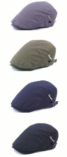 1c6de191b21 Mens Women Cotton Painter hat Flat Beret Hat Leisure Visor Solid Berets  Gorras Caps Adjustable is hot sale on Newchic.