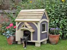unusual outdoor cat house design - if we put this on stilts with some steps = pe. - unusual outdoor cat house design – if we put this on stilts with some steps = perfect. Feral Cat House, Feral Cats, Outdoor Cat Shelter, Outdoor Cats, Outside Cat House, Raising Kittens, Cat Enclosure, Cat Dog, Cat Condo