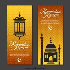 Folleto ornamental de ramadan Vector Gratis