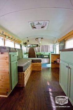 Adventure or Bust School Bus Conversion: Tour!