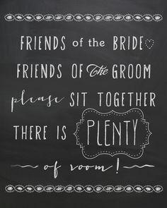 Rustic Wedding Chalkboard sign - Custom Printed keepsake sign, sit together, wedding chalkboard sign, wedding chalkboard art, seating.