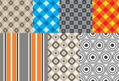 Seven Simple Geometric Patterns Vector Illustrations