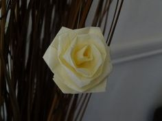 How to make a rose with tissue paper slow version / Valentine's day craft - YouTube