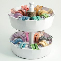Two Washi Tape Dispensers + Stackable Post - WeR Memory Keepers We R Memory Keepers http://www.amazon.com/dp/B00IG8LYO4/ref=cm_sw_r_pi_dp_T3qAub0MFM7G5