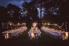casamentos ao ar livre - luzes