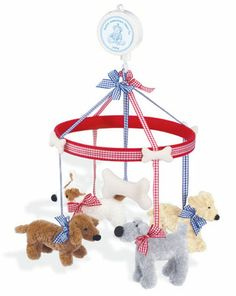 Ollie Dog Mobile by North American Bear at BabyEarth.com, $48.95
